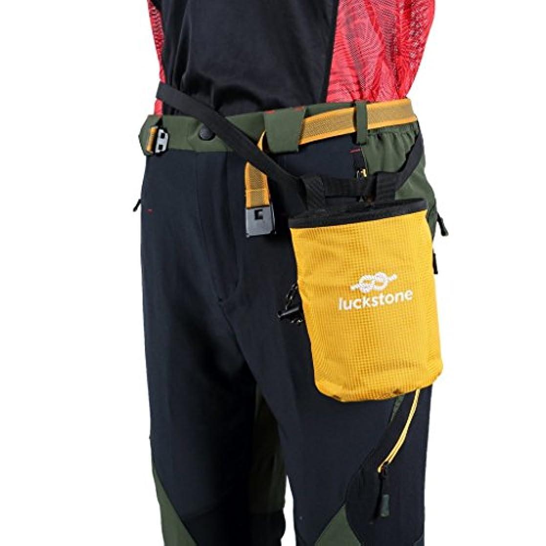 プロペラそっと満足させるチョークバッグ ポケット 防水素材 軽量 登山袋 ロッククライミング 重量挙げ ボルダリング 体操 男女兼用 5色選べ