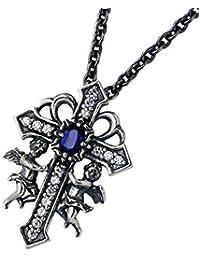 Bizarre ビザール シルバー ネックレス メンズ ケルビム クロス 十字架 天使 ストーン SNJ114
