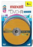 Maxell 638033 DVD-R 4.7gb Color Carded 5pk [オンデマンド(CD-R)]