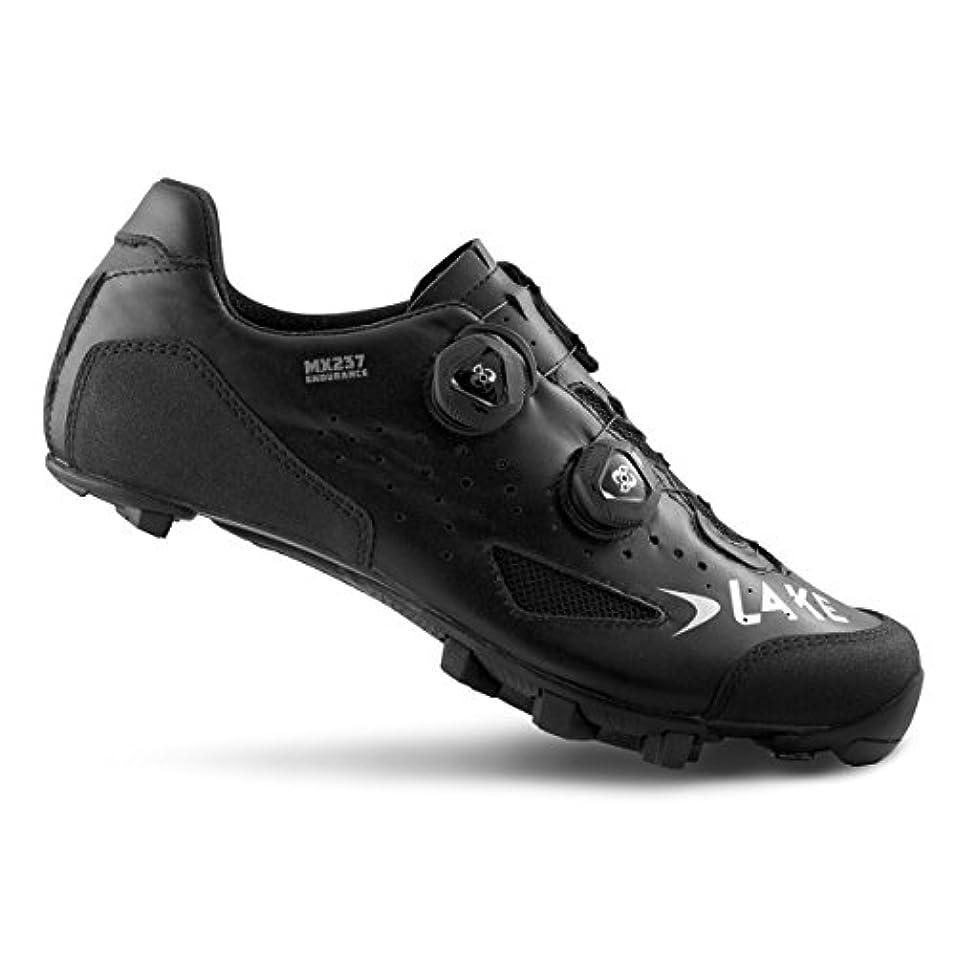 レシピ面白い粗いLake MX237 Endurance サイクリングシューズ メンズ ブラック/ブラック 48.0