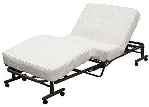 アイリスオーヤマ ベッド 折りたたみベッド 電動ベッド シングル 収納  高反発 リクライニング  コイルタイプ 完成品 ホワイト OTB-CDN