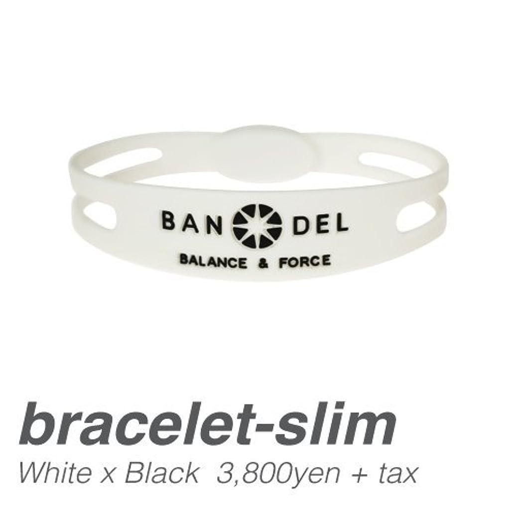 遊具ヒップ共産主義[バンデル?BANDEL]ブレスレット スリムタイプ?BANDEL bracelet Slim-type(Whitexblack?ホワイト×ブラック)SSサイズ(16.0cm)