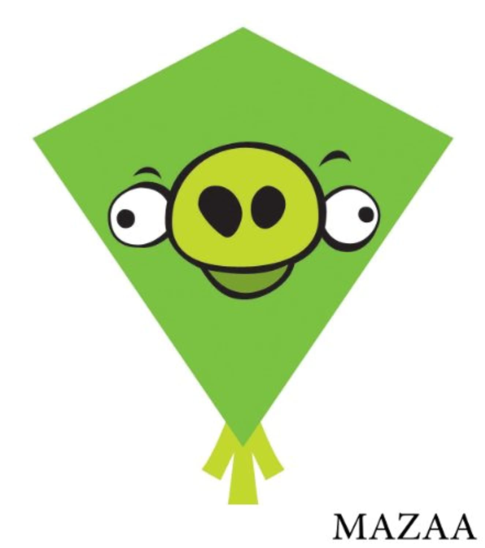 X KitesアングリーバードNylon Diamond Kite Green Pig