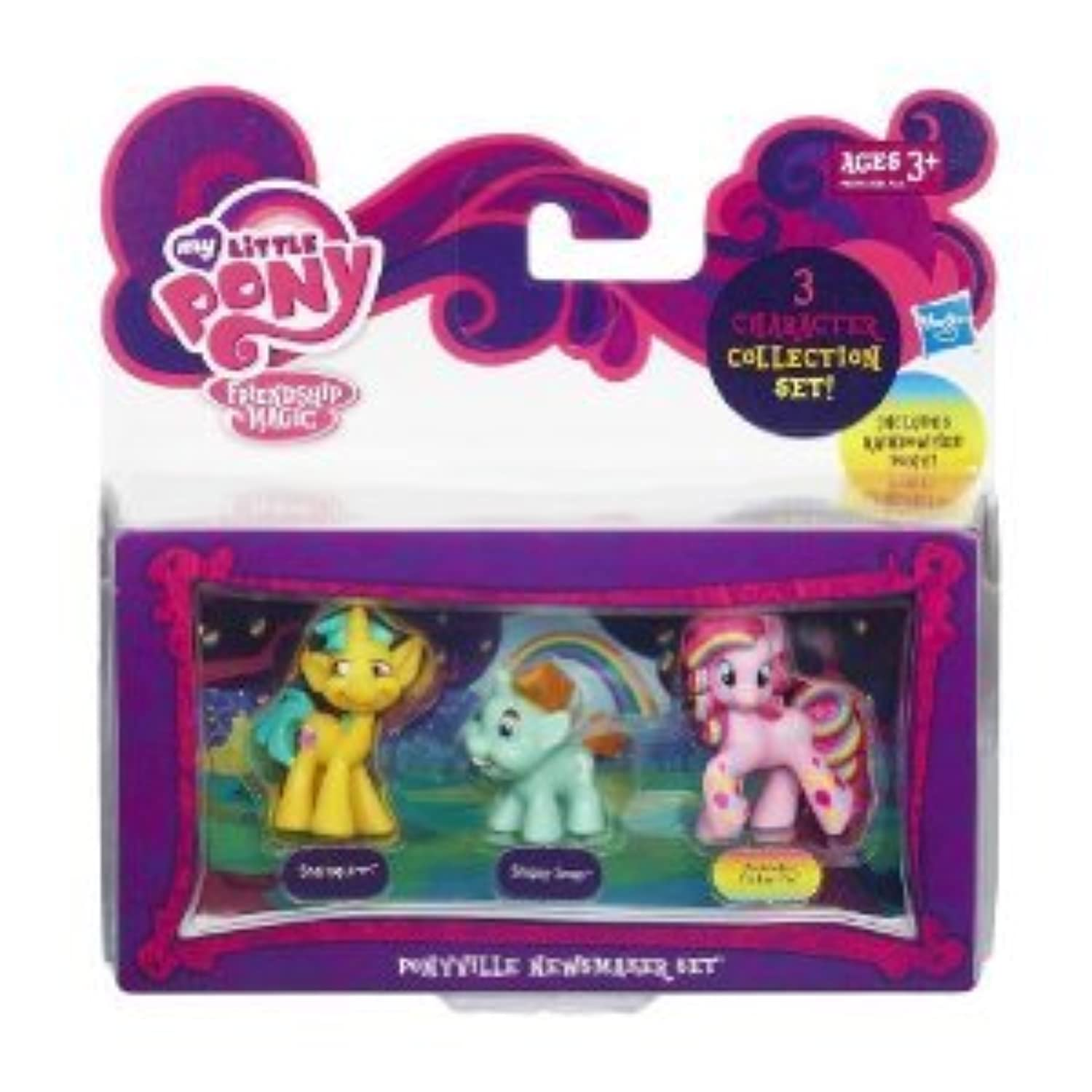 My Little Pony (マイリトルポニー) Friendship is Magic Ponyville Newsmaker 3-Pack Snailsquirm, Snipsy Snap & Rainbowfied Pinkie Pie ドール 人形 フィギュア(並行輸入)