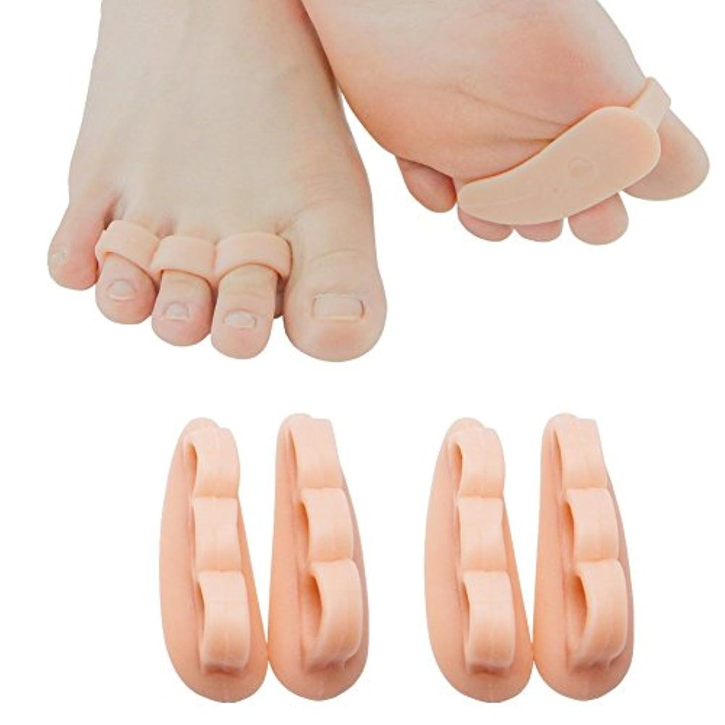 ナサニエル区つま先予想するSumifun 美脚ビューティー ヨガ 足指 パッドリコーン 足指矯正パッド 足指痛み 小指シリコンパッド 足指セパレーター (内反小趾専用)