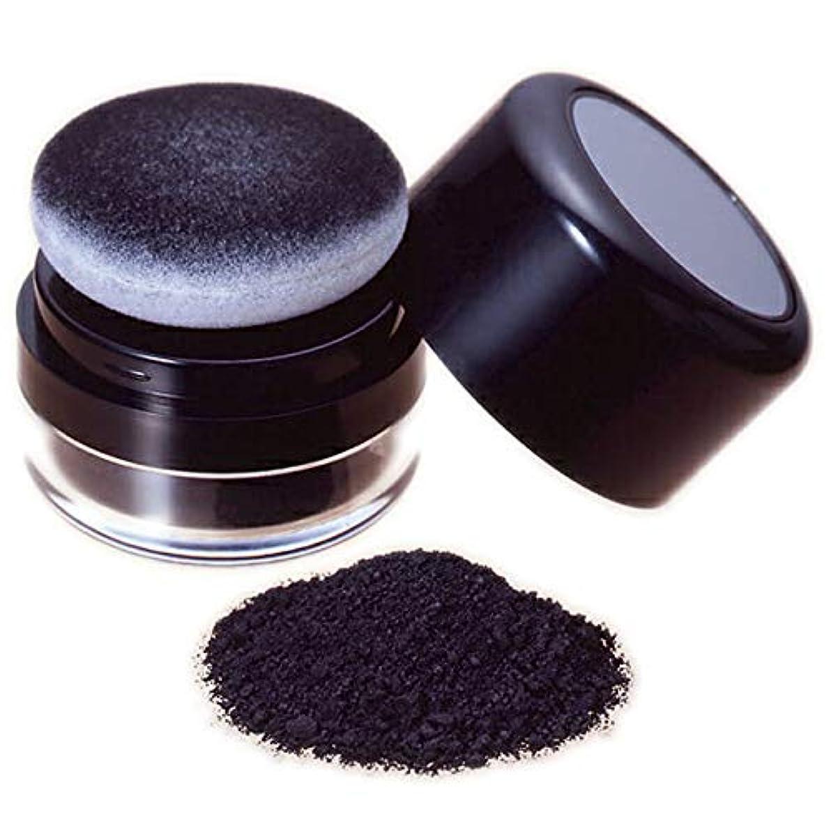 エジプトあらゆる種類のマリン薄毛部分にミクロの粉でハゲ隠の黒い粉し【ヘ ア ー フ ァ ン デ ー シ ョ ン (黒色)