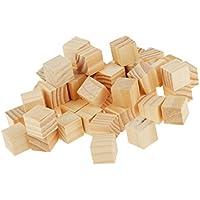 Kesoto 積み木 立方体 クラフト 手描き 木製 DIY 手芸 染色可能 手作り おもちゃ ゲーム 知育 教育道具 20 * 20mm  約50個セット