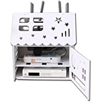 ファッション無線LANルータストレージボックス、リビングルームプラグインパワーストリップストレージボックス、充電器セットトップボックスストレージ
