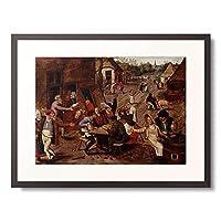 ピーテル・ブリューゲル(子) Pieter Bruegel (Brueghel) de Jonge 「Eine Bauernhochzeit.」 額装アート作品