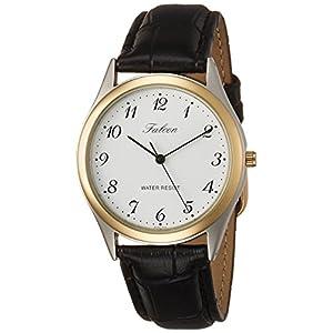 [シチズン キューアンドキュー]CITIZEN Q&Q 腕時計 Falcon ファルコン アナログ 革ベルト ホワイト QA66-504 メンズ