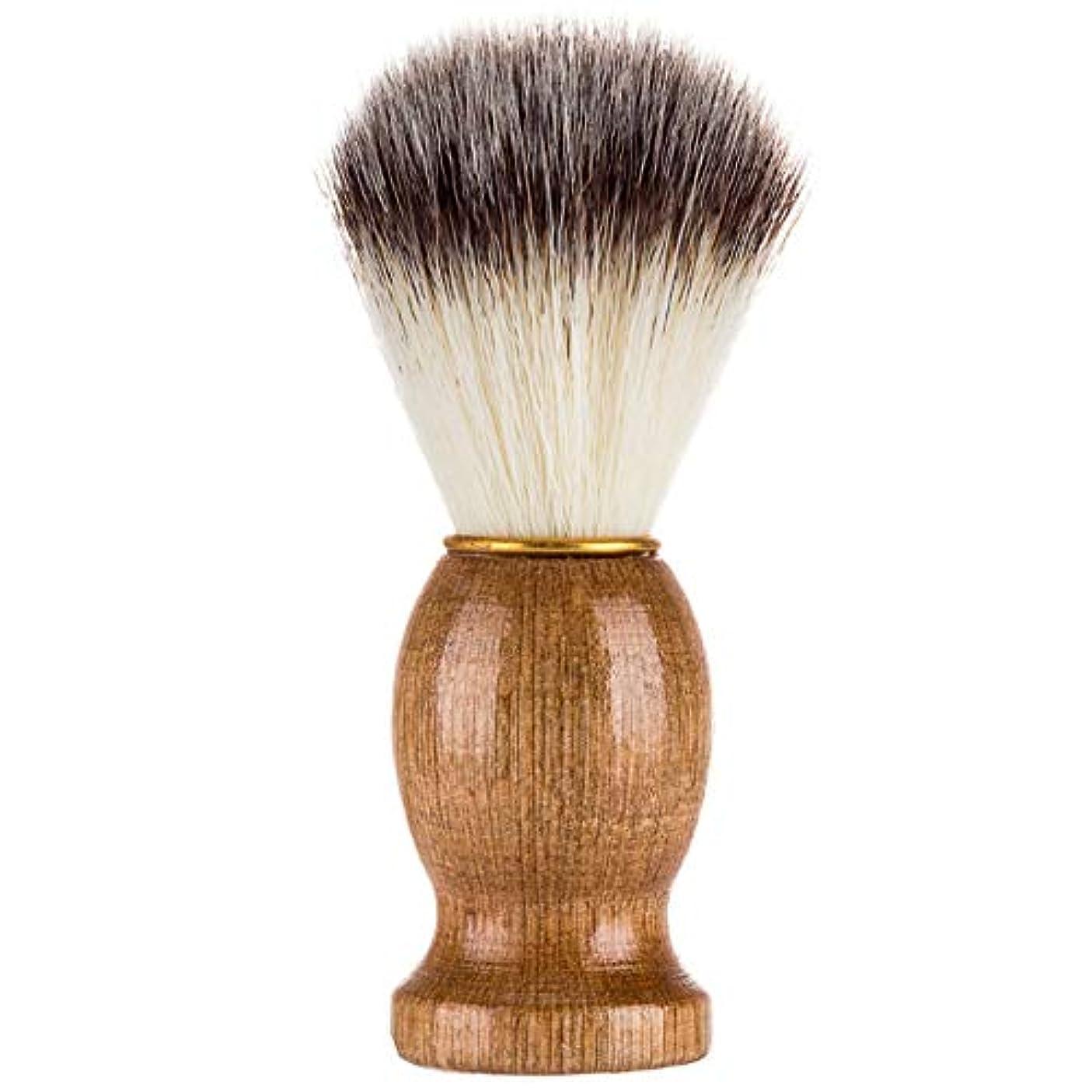 舌なレイアウト活気づくMagRing効果的にアナグマの毛の剃るかみそりのブラシの大広間の男性のための木製のハンドルが付いている美のクリーニングの電気器具色:木色