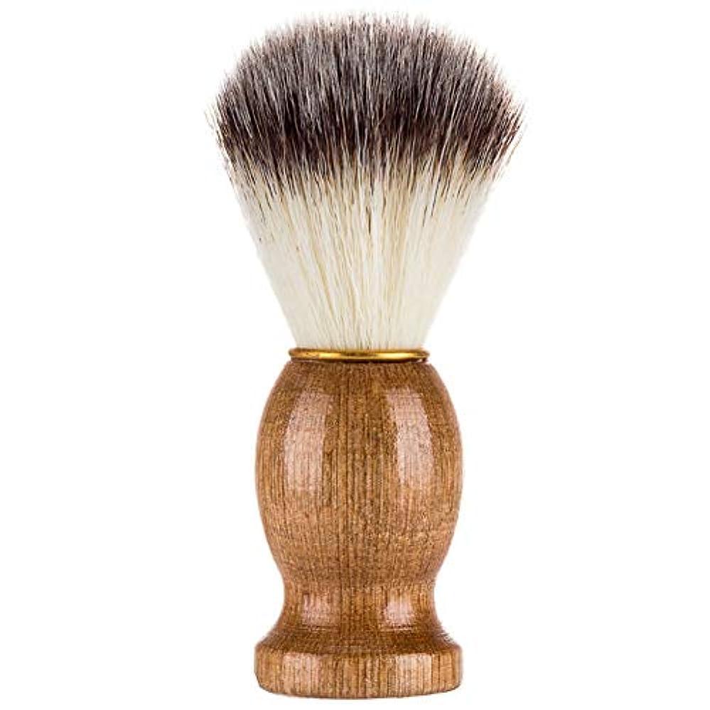 下手過言シャックルMagRing効果的にアナグマの毛の剃るかみそりのブラシの大広間の男性のための木製のハンドルが付いている美のクリーニングの電気器具色:木色