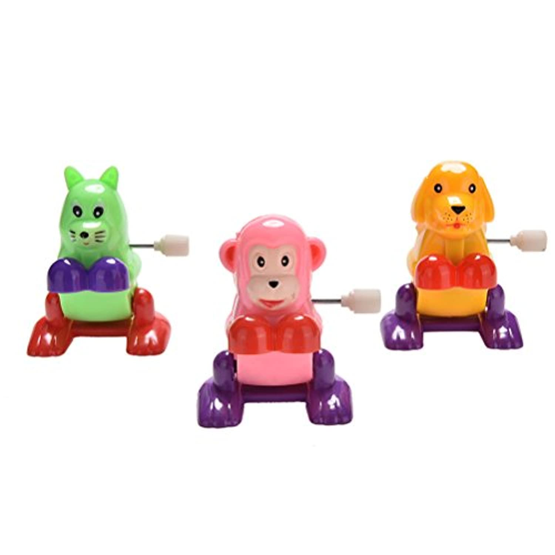 JETTINGBUY 1個動物Somersault Running Jumping Clockwork Toys