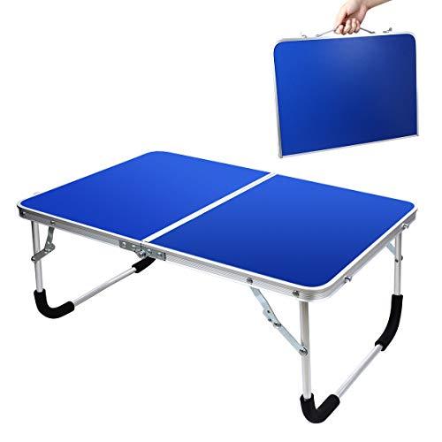 EPHRAMアウトドア テーブル 折りたたみ キャンプテーブル ベッド用 机 軽量 2つ折り 約61...