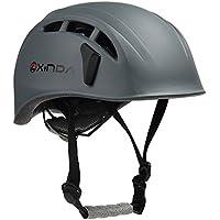 ヘルメット 登山用 【改良版】 EPS+PC製 防護帽 キャンプ アウトドア 装備 サイズ調整可能 安全保護 サイクリング 消防救援 洞窟探検 自転車などに適用