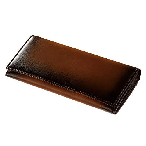 HENRY COAT 財布 メンズ 艶やかなグラデーションカラー 長財布 キャメル