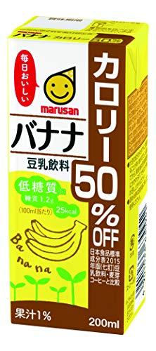 豆乳飲料 バナナ カロリー50%オフ 200X12 ×12本