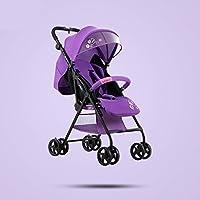 乳母車 子どもの乗り物は子供の傘のカートに乗ることができます 使いやすい (色 : Purple)