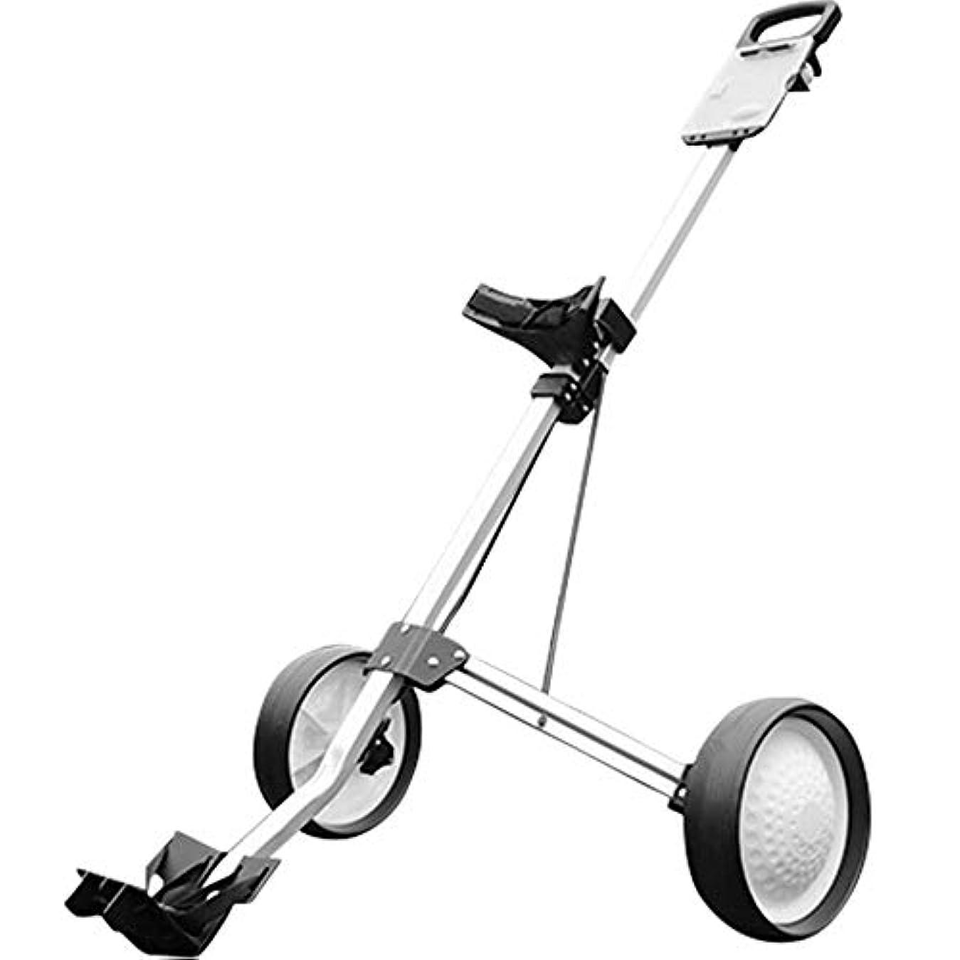 センター柔らかい足軍隊ゴルフカート回転折りたたみ式2輪プッシュプルカートゴルフトロリーゴルフプッシュカート