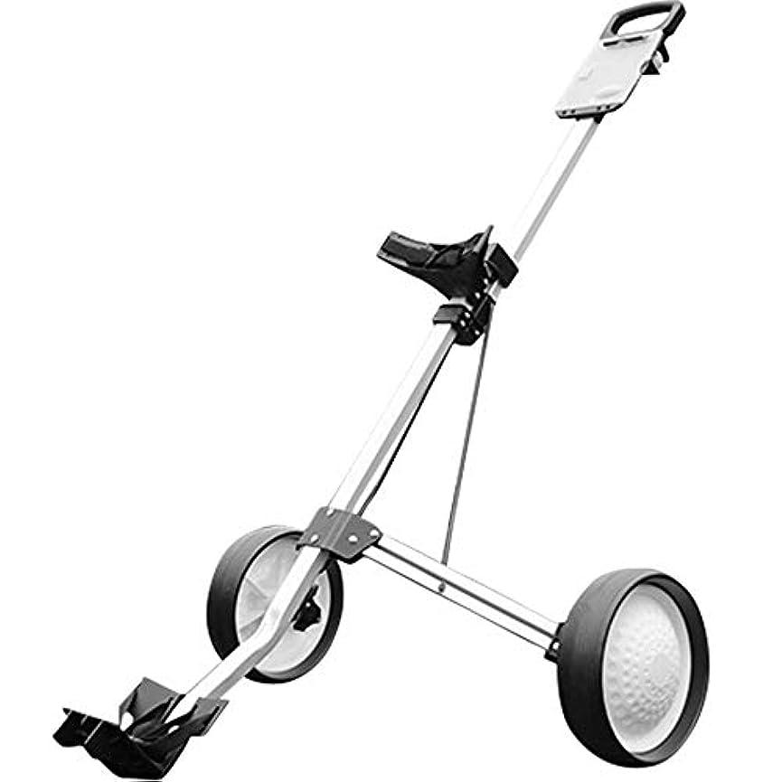 文字通りお父さん扱いやすいゴルフカート回転折りたたみ式2輪プッシュプルカートゴルフトロリーゴルフプッシュカート