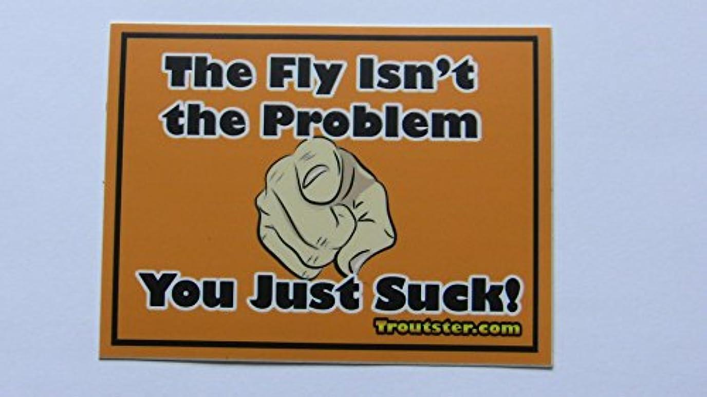 処理する実現可能ヒギンズFunny Fly Fishingステッカー