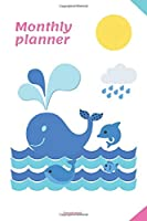 Monthly planner: A useful and practical notebook for planning and saving various life tasks, now and in the future (110 Pages, Text, Fields to save, 6 x 9)