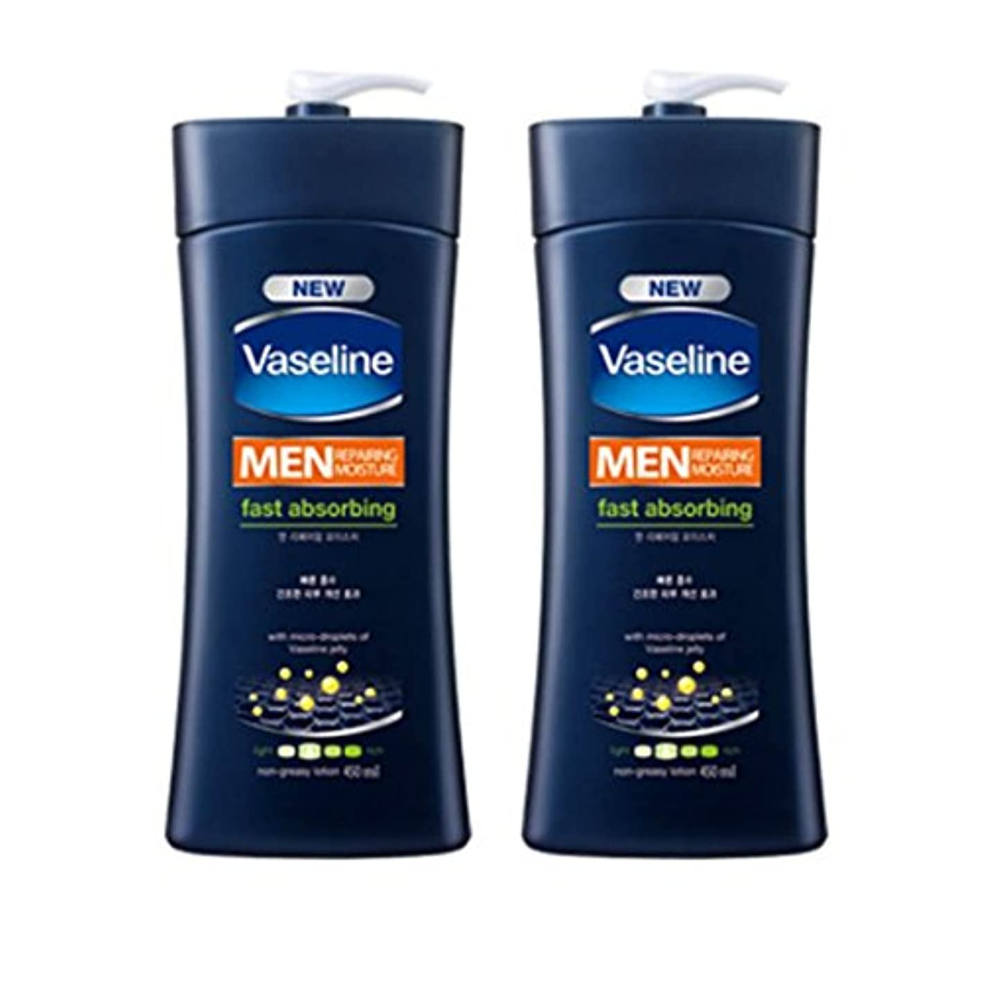 冒険者典型的な航空便ヴァセリン メンズ リペアリング モイスチャーローション(Vaseline Man Repairing Moisture Lotion) 450ml X 2個 [並行輸入品]