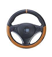 Fashionwu 車ハンドルカバー ステアリングカバー 吸汗 滑り防止 グリップ感抜群 耐久性 汎用 多色 多規格