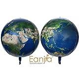 "16"" Planet Earth Balloons Large Round Sphere World Map Balloons Planet Printing Maylar Globe Jumbo Balloons Kids Toys Gifts Classroom Decor Kids Birthday Decor Hangable(2pcs)"