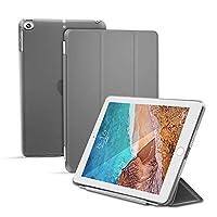 【マーサリンク】 iPad mini5 第5世代 2019年版/mini4通用 三つ折り スマート カバー ケース 分離式 オートスリープ対応 (ブラック、ブルー、グリーン、グレー、ピンク、ゴールド、ローズゴールド) 選択 (グレー)