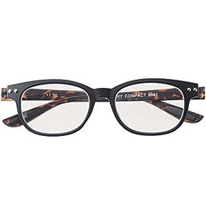 colorfulook おしゃれ 老眼鏡 ブルーライトカット TR90 軽量 形状記憶 フレーム ブラック デミ +2.00 5561-20