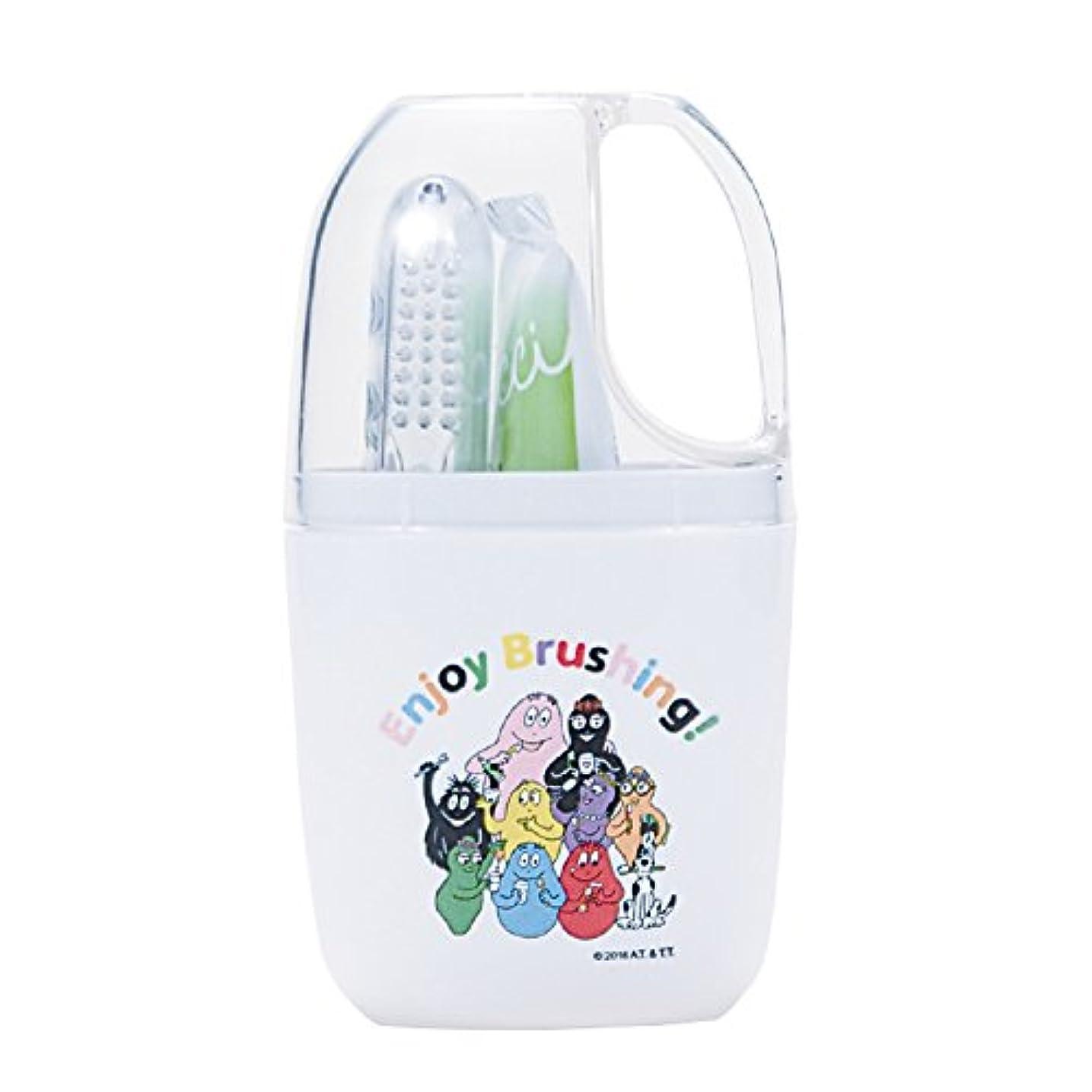 直立比較的落ち着いてCi バーバパパ トラベルセット 歯ブラシ (コップ付きセット)