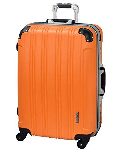 S型 オレンジ/メッシュKingdom 機内持込可 TSAロック搭載 スーツケース キャリーバッグ マット 超軽量 (1-3日用)