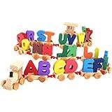 【ノーブランド品】木製 キッズ 知育玩具 文字 トレーニングセット (カラフル)教育玩具 贈り物