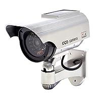 赤色LED搭載 ソーラー発電 屋外用ダミーカメラRI-DCS01