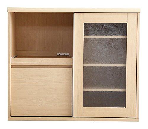 ガラス引戸食器棚【Forni-フォルニ-】(幅105cm×高さ90cmタイプ)
