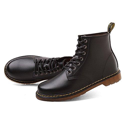 MERLIN 8cmUP メンズ シークレット シークレットシューズ シークレットブーツ 8cmアップ メンズ 履くだけで背が高くなる靴 メンズブーツ ワークブーツ メンズシューズ インヒール (25.5, ブラック)