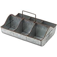 トスダイス 小物入れ コンパートメントティンボックス BOX6 アンティークメタル SGW145460-6AM