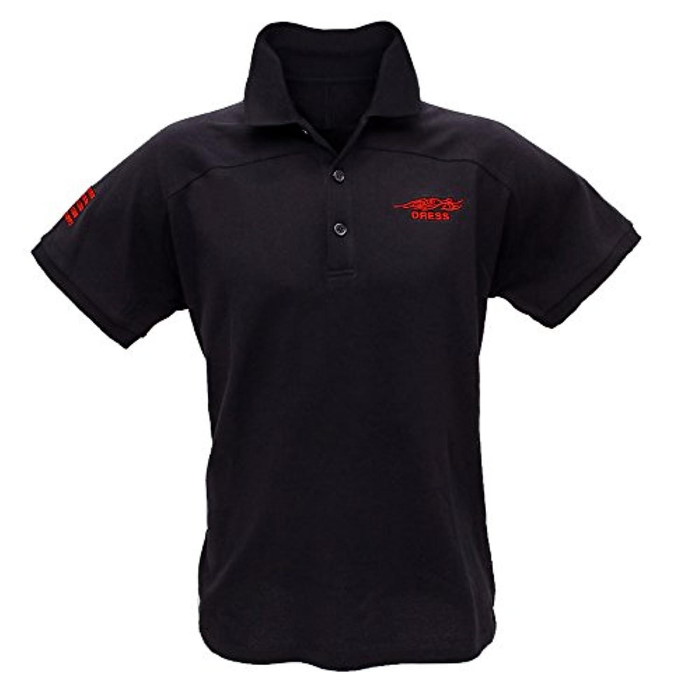 ドレス(DRESS) ラグランポロシャツ レッド XL.