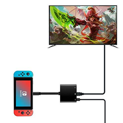 Rytaki 3In1 Type-C to HDMI変換 Nintendoのためのスイッチ アダプタ ドックセット HDMI変換 テレビ コンピューターに出力 高速充電対応 小型 持ち運びに便利 多機能変換アダプター