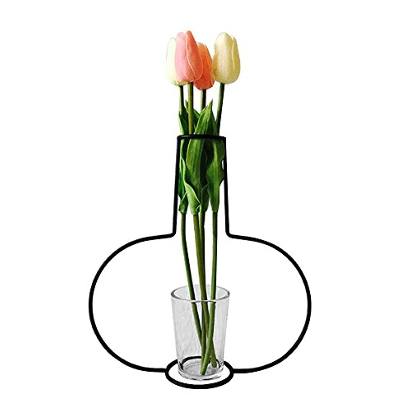 プレゼンロバ常にJicorzo - グローブフェアリーミニチュアガーデン装飾アイアンアートクラフトシンプルバルコニーフラワーポットスタンドヴィンテージ家の庭の装飾アクセサリー[G10]