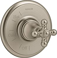 Kohler K-TS72767-3 Artifacts 圧力バランスバルブトリムのみ - 粗さを減らす 鮮やかなつや消しブロンズ