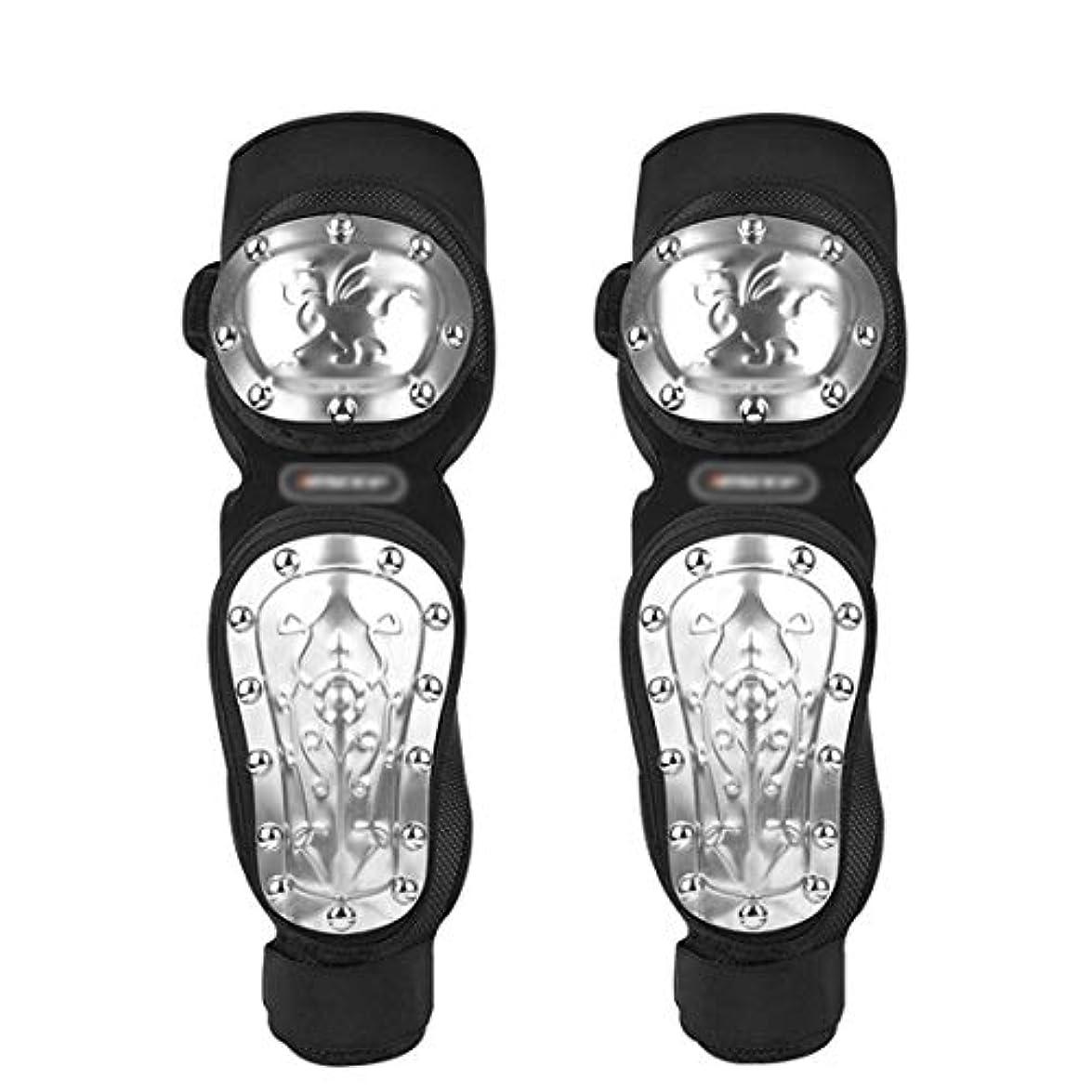 スリーブ追加救急車FELICIAAA オートバイ保護装置膝パッドスケートボードスケートサイクリング用エルボーステンレススチールサイクリングBMX自転車スクーター - 4本 (色 : 黒)