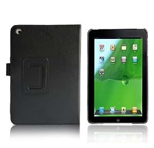 グッド・グッズ オリジナル商品【MINI02黒】iPad mini ケース カバー | アイパッド専用レザーケース皮革カバー スタンド付アクセサリー