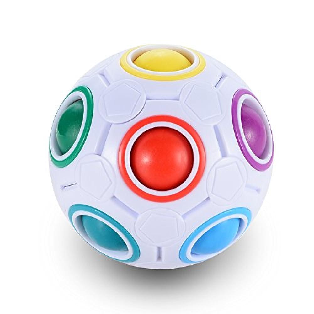 漂流無駄な新聞(ロナルイン) ROubia IN レインボーマジックボールパズル 楽しいフィジェット子供用教育玩具 1ピース