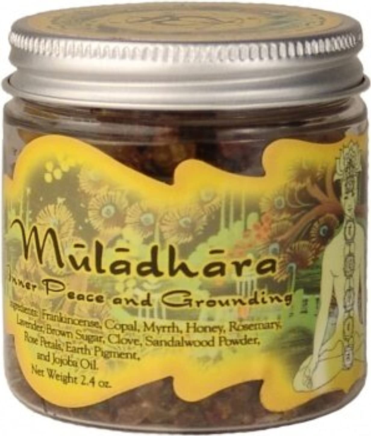 六月フィヨルド電子樹脂Incense Root Chakra Muladhara – 接地and Inner Peace – 2.4oz Jar