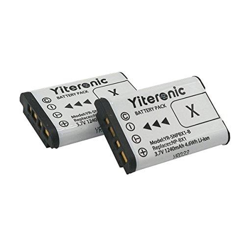NP-BX1 Yiteronic 互換バッテリー(2個) 対応機種 Cyber-shot DSC-RX1 DSC-RX100 FDR-X3000 FDR-X3000R