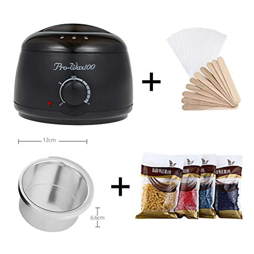 飢え過去電卓Professional Mini Wax Heater Hair Removal Tool Epilator Wax Warmer Hand Epilator Wax Machine with Temperature...