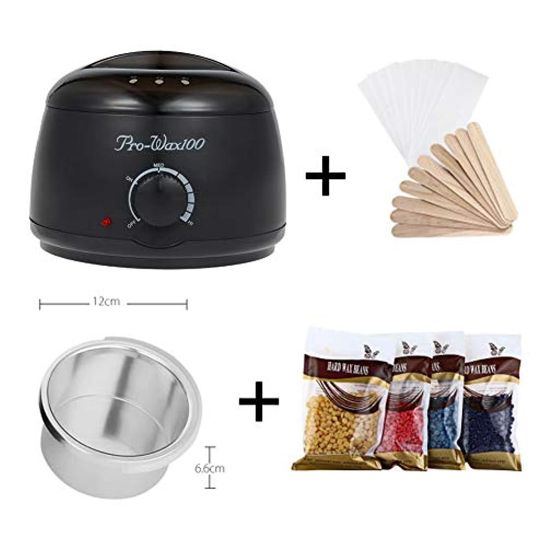 多年生十億前書きProfessional Mini Wax Heater Hair Removal Tool Epilator Wax Warmer Hand Epilator Wax Machine with Temperature Control [ プロのミニワックスヒーター脱毛ツール脱毛器ワックスウォーマーハンド脱毛器ワックス温度制御付き ]