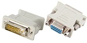 小型アダプタ 24+1(DVI-D デュアルリンク:オス) × VGAメス